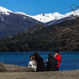 Atividades no Lago Gutiérrez Lado Oeste