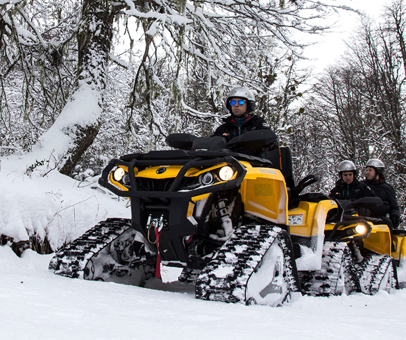 Actividades en moto de nieve