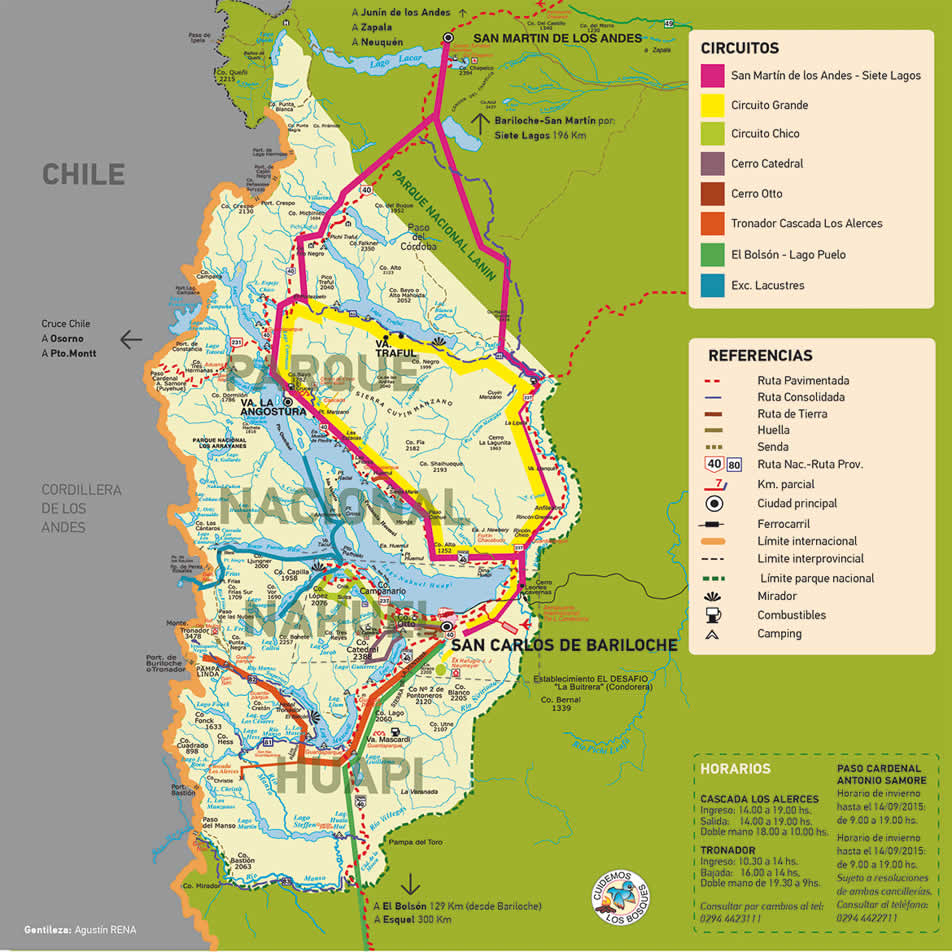 Maps of Bariloche Circuits