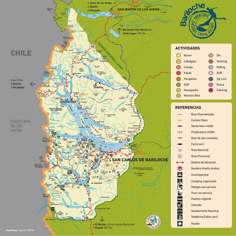 Maps of Bariloche Activities