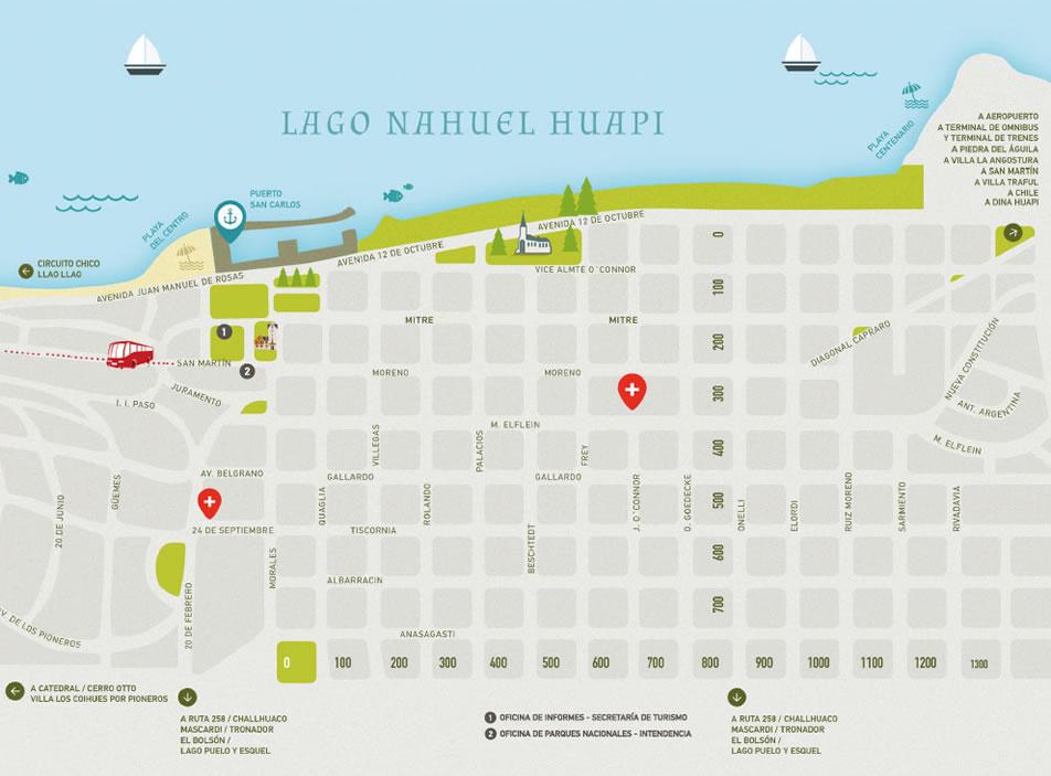 Mapas y planos de Bariloche