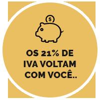 Os 21% de IVA voltam com você *