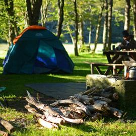 Atividades no Lago Camping