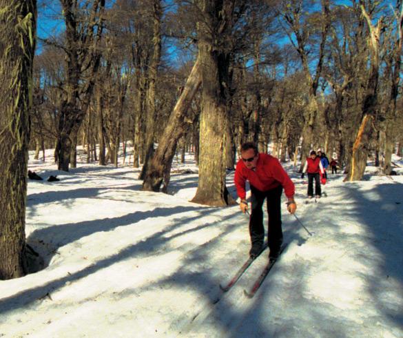 Atividades com esqui de travessia