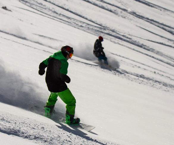Atividades com snowboard