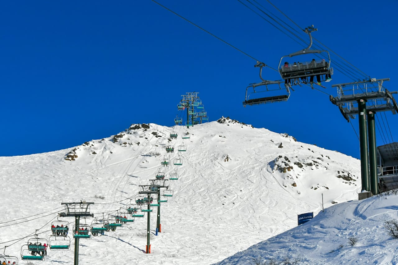 Ya se esquía en Bariloche