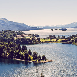 Fall in Bariloche from above