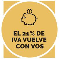 El 21% de  IVA vuelve  con vos *